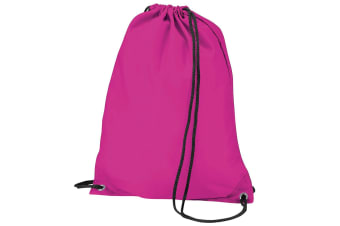 BagBase Budget Water Resistant Sports Gymsac Drawstring Bag (11L) (Fuschia)