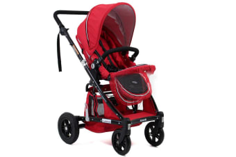 Valco Baby Stroller/Pram for Newborn/Infant Backward/Forward Facing/Foldable Red