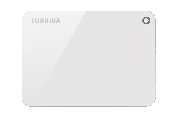 Toshiba Canvio Advance V9 USB 3.0 Portable External Hard Drive 1TB - White (HDTC910AW3AA)