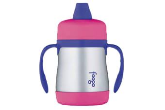 Thermos Foogo 200ml Ss Sippy Cup With Handles Pink