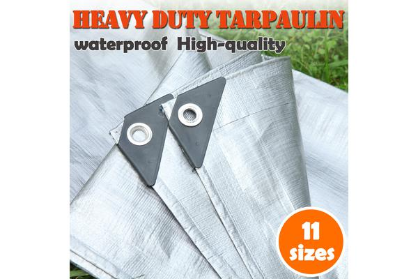 Mulit-Size Heavy Duty Tarpaulin UV Water Rot Proof - 10x20