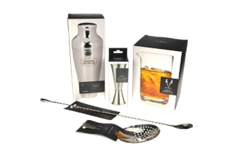Viski Stainless Steel Cocktail Shaker Set