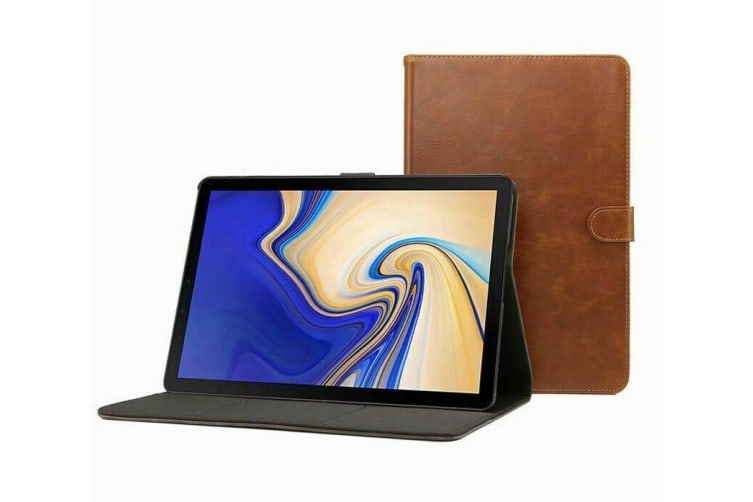 Luxury Leather Smart Case Cover For Galaxy Tab S5e 10.5 T720 T725-Brown