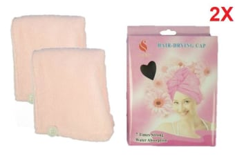 2X Microfibre Magic Hair Towel Wrap After Shower Quick Dry Hair Drying Turban Cap