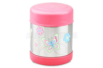 Thermos Funtainer 290ml S/Steel Vacuum Insulated Food Jar Pink Butterfly