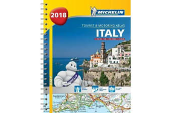Italy - Tourist and Motoring Atlas 2018 (A4-Spiral) 2018