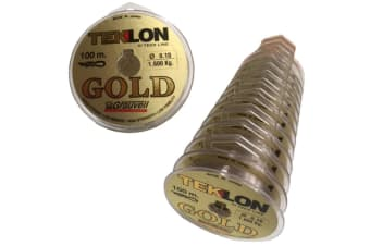 Grauvell Teklon Gold 1.6kg Mono Line -1200m in Total -12 x 100m Connected Spools