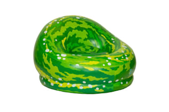 BloChair Rick & Morty Portal Inflatable Chair Lounge Toy Sofa/Couch Green