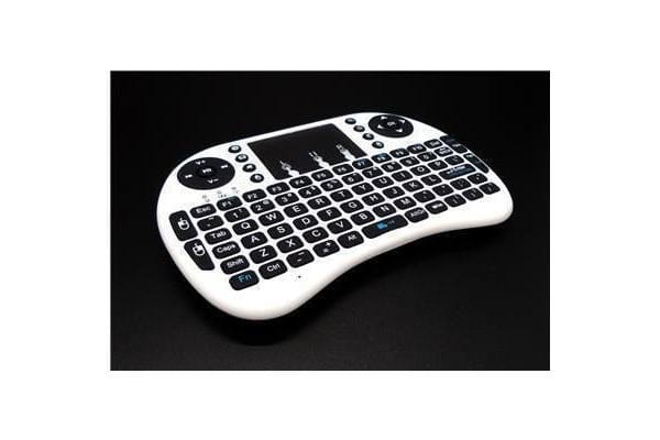 Raspberry Pi Mini Wireless Rechargeable Keyboard With Touchpad Mouse (White)