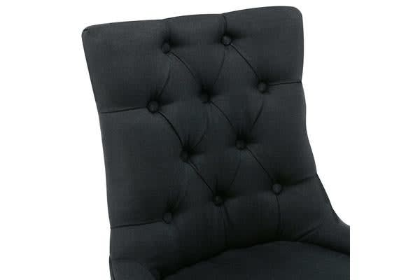French Provincial Syud Back Dining Chair (Black)