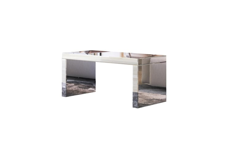Modern Mirrored Coffee Table Wooden Side Table Living Room Furniture
