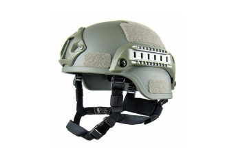Select Mall Adjustable Tactical Helmet Simple Lightweight Riding Helmet for Outdoor Sports-Green