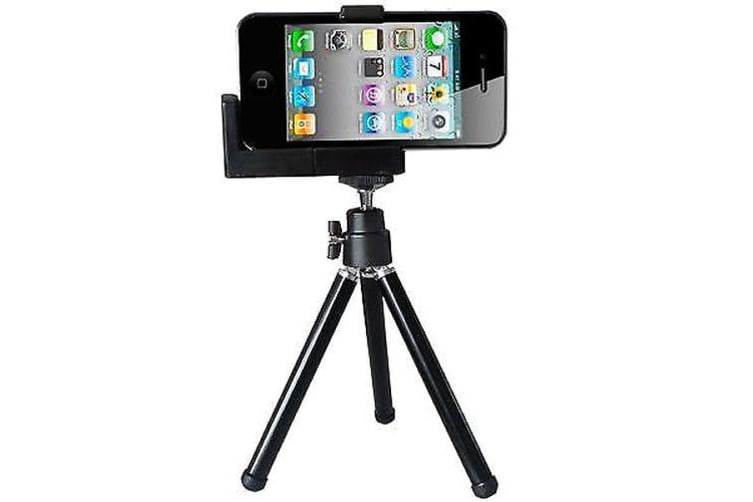 For iPhone Retro Hipstamatic High-Quality Durable Mini Camera Tripod iPod Black