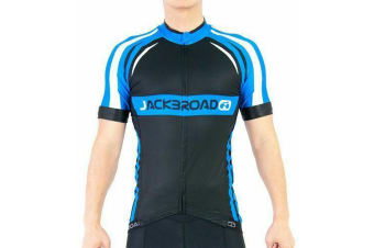 Jackbroad Premium Quality Cycling Jersey Blue M