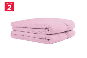 Onkaparinga Ethan 600GSM Bath Mat Set of 2 (Rose)