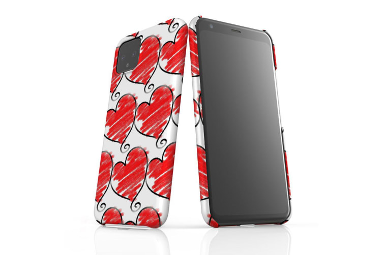 For Google Pixel 4 Snap Case Lightweight Protective Slim Unique Cover Hearts