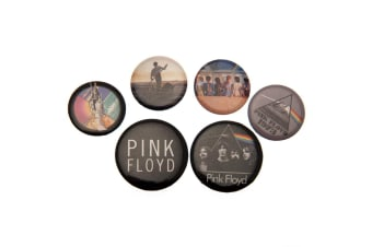 Pink Floyd Button Badge Set (Multi-colour)