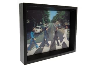 The Beatles Framed Abbey Road 3D Picture (Multi Coloured)