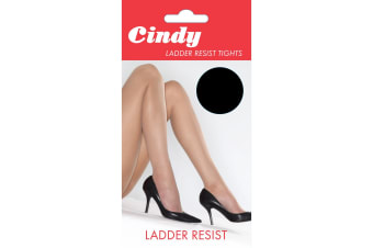 Cindy Womens/Ladies Ladder Resist Tights (1 Pair) (Black)