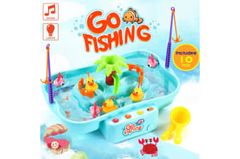 Musical Fishing Playset Game for Children w/ Water Pump