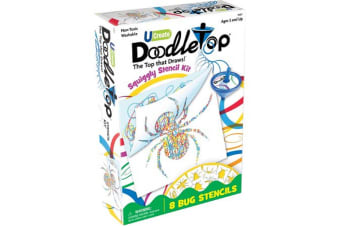 Doodletop Squiggly Bugs Stencil Kit - 8 Bug Stencils