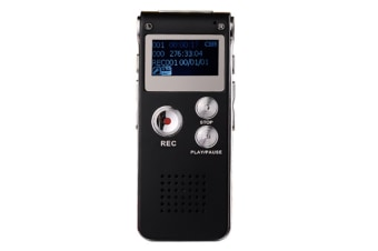 WJS 8GB Digital Voice Recorder Voice Activated Recorder with Playback Mini Audio Recorder Portable Tape Dictaphone with USB-Black