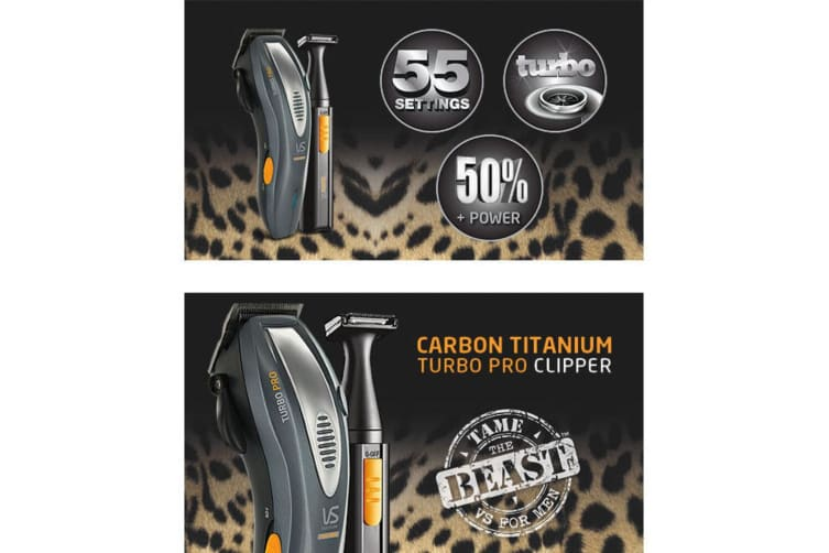 VS Sassoon Men VSM2330A Metro Grooming Hair Beard Clipper Trimmer Cordless Kit