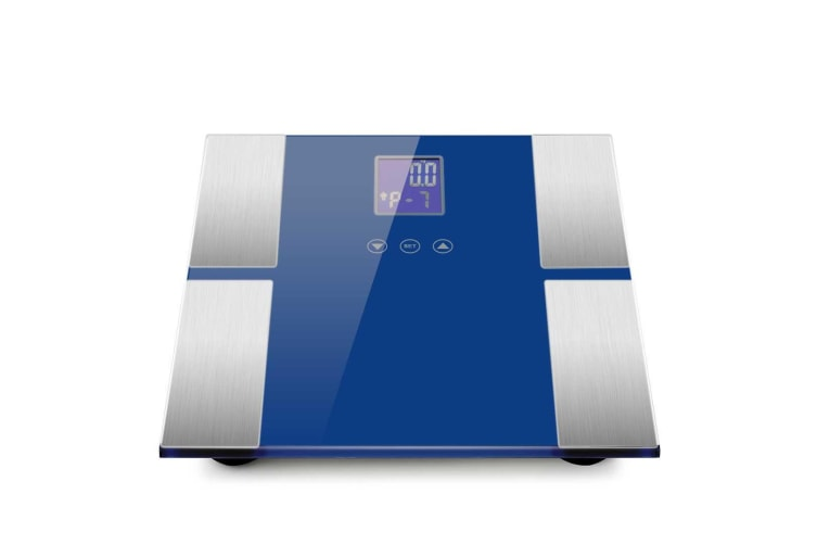 SOGA 2x Blue Digital Body Fat Scale Bathroom Scales Weight Gym Glass Water LCD Electronic