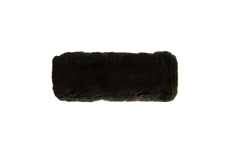 HyFASHION Adults Canadian Faux Fur Headband (Black) (One Size)