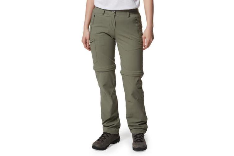 Craghoppers Womens/Ladies NosiLife Pro II Convertible Trousers (Soft Moss) (14L UK)