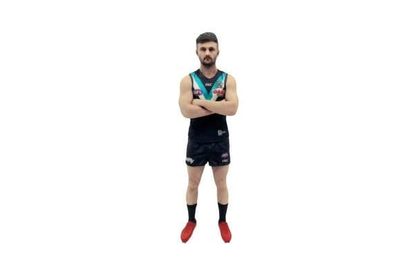 Sam Gray AFL Port Adelaide 3D Printed Mini League Figurine - 18cm