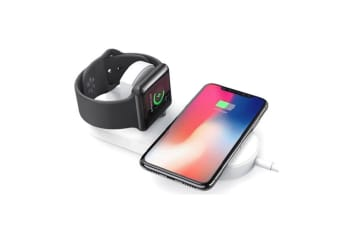 Orotec Mini Air Power Dual Wireless Charger For Apple iWatch & Qi Enabled Mobile