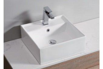White High Gloss Ceramic Bathroom Sink Basin Above Counter Top Wall Hung (CBS011)