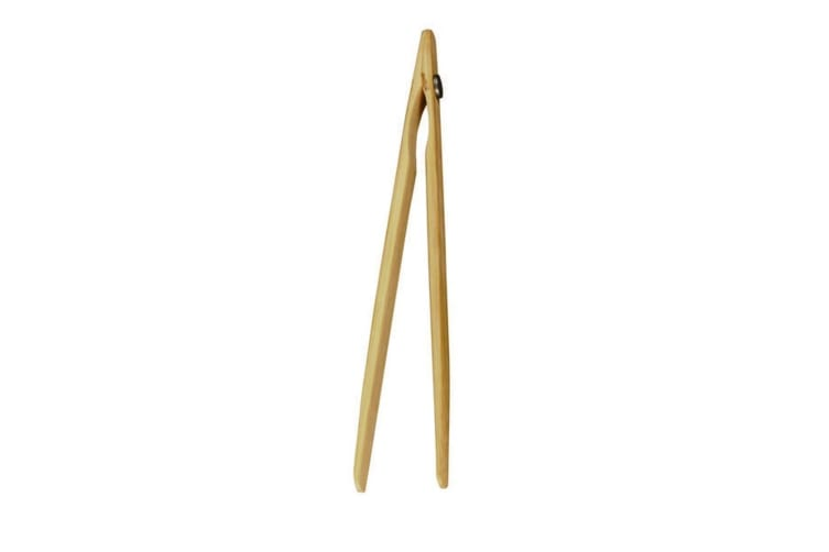 Avanti Bamboo Toast Tongs With Magnet Tong Clip Kitchen Utensil Gadget