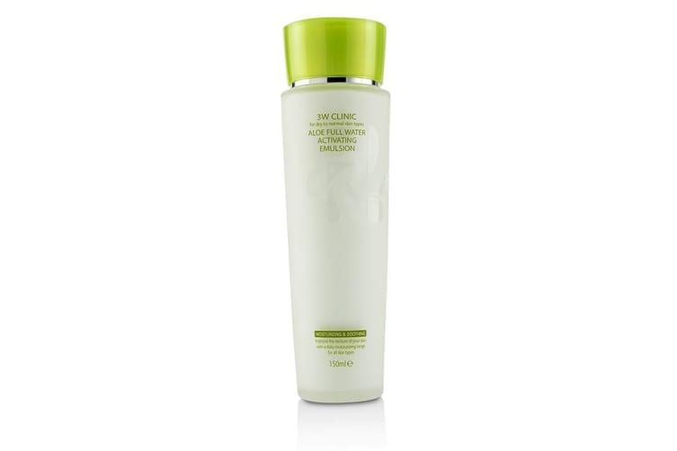 3W Clinic Aloe Full Water Activating Emulsion - For Dry to Normal Skin Types 150ml