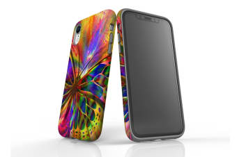For iPhone XR Case  Protective Back Cover  Psychedelic Butterfly