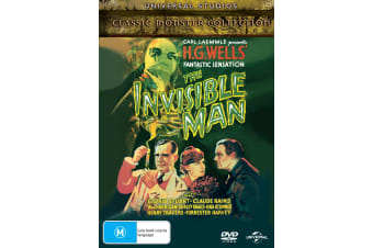 The Invisible Man DVD Region 4