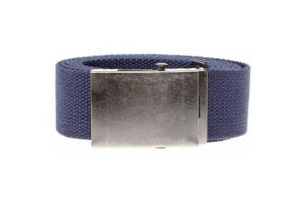 Duke Mens Kingsize Edward Plain Webbing Belt (Navy)