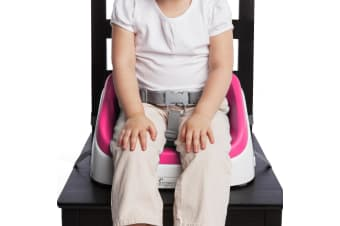 Ingenuity SmartClean Magenta Kids/Toddler Portable Seat Booster High Chair 16m+