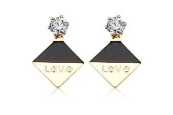 Geo Love Earrings-Gold/Black