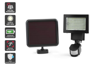 Solar Powered Motion Sensor LED Flood Light (2200mAh, 120 LED)
