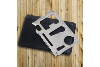 10 in 1 Stainless Steel Credit Card Multi Tool | multitool