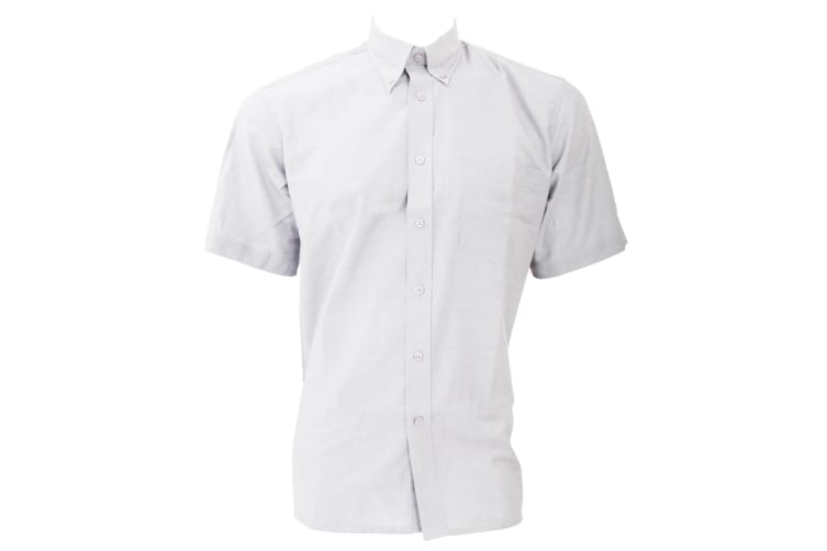 Dickies Short Sleeve Cotton/Polyester Oxford Shirt / Mens Shirts (White) (18.5inch)