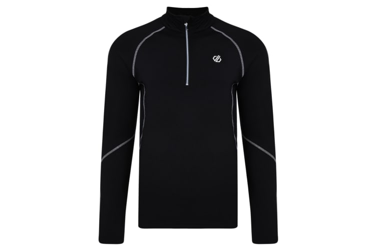 Dare 2B Mens Interfused Half Zip Core Midlayer (Black) (M)