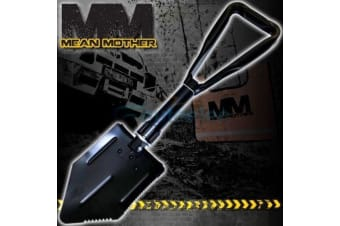 MEAN MOTHER RECOVERY FOLDING SHOVEL PICK TOOL 4WD 4X4 CAMPING SPADE OFF ROAD