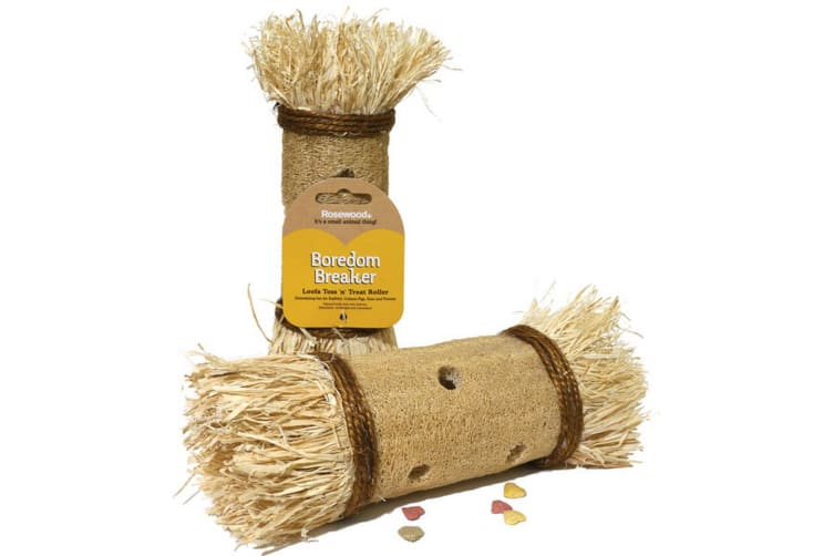 Rosewood Boredom Breaker Loofa Toss N Treat Roller (Assorted Colours) - ASRTD (Assorted) (One Size)