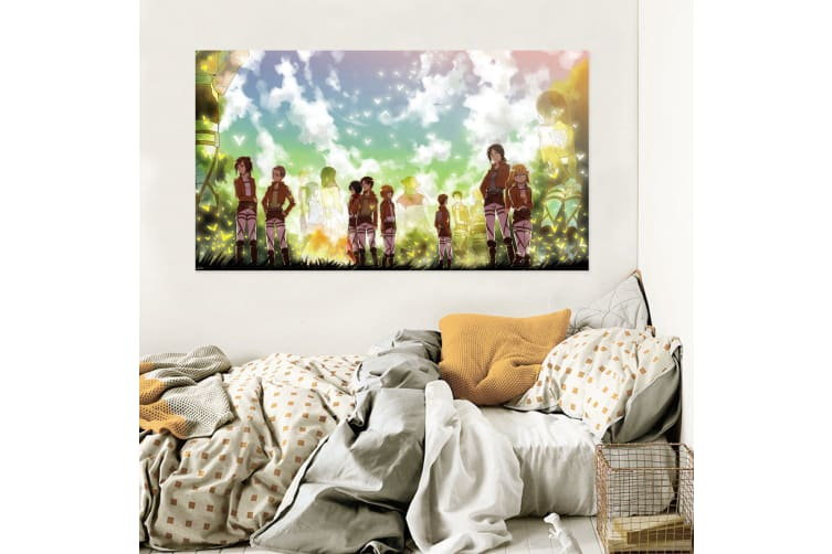 3D Attack On Titan 776 Anime Wall Stickers Self-adhesive Vinyl, 110cm x 110cm(43.3'' x 43.3'') (WxH)