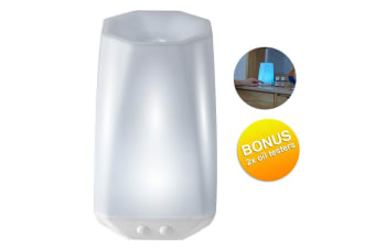 Homedics Connect Ultrasonic Aroma Diffuser/Colour Light Lamp/Therapy/Humidifier