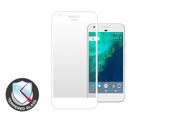 Premium Tempered Glass Screen Protector for Google Pixel (White)