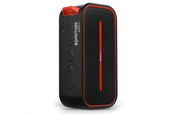 PROMATE 6W Rugged IPX5 Water-Resistant Bluetooth 4.0 Speaker Colour Black